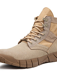 cheap -Men's Combat Boots Canvas / Satin Fall / Winter Sporty / Casual Boots Breathable Booties / Ankle Boots Black / Khaki