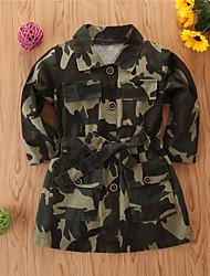 cheap -Kids Girls' Basic Print Regular Suit & Blazer Army Green
