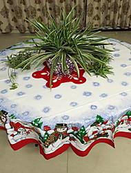 Недорогие -На каждый день полиэфирное волокно Круглый Скатерти Геометрический принт Новогодняя тематика Настольные украшения