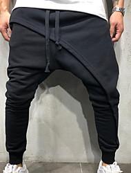cheap -Men's Basic wfh Sweatpants Pants - Solid Colored Black Army Green Dark Gray US32 / UK32 / EU40 US34 / UK34 / EU42 US36 / UK36 / EU44