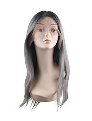 cheap -Synthetic Lace Front Wig Natural Straight Middle Part Wig Long Synthetic Hair 28 inch Women's Adorable Best Quality Hot Sale Black