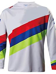 Недорогие -Муж. Длинный рукав Велокофты Сноуборд Джерси Джерси Байк Джерси Зима Белый геометрический Велоспорт Джерси Одежда для мотоциклов Верхняя часть Горные велосипеды Шоссейные велосипеды / Дышащий