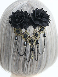 cheap -Women's Dainty Vintage Trendy Resin Fabric Alloy Hair Clip Halloween Club