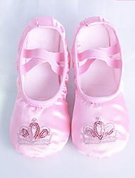 cheap -Girls' Dance Shoes Satin Ballet Shoes Flat Flat Heel Customizable Pink