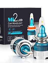 cheap -2PCS car headlight LED H7 H27 H11 H8 H1 H3 9005 9006 hb3 hb4 Auto Headlight Car Bulb 54W 6000LM 6000K Led 12V