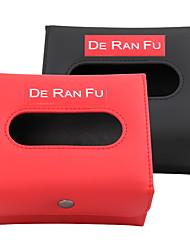 cheap -Car Foldable Tissue Paper PU Leather Box Holder Rectangular Napkin Pumping Paper 160*135*88