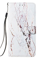 cheap -Case For Apple iPhone 12 / iPhone 11 / iPhone 12 Pro Max Wallet / Card Holder / Flip Full Body Cases Marble PU Leather