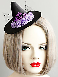 cheap -Women's Statement Vintage Trendy Fabric Alloy Hat Hair Clip Halloween Theme Party
