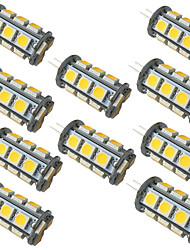 cheap -10pcs 3.5 W LED Bi-pin Lights 350 lm G4 GY6.35 18 LED Beads SMD 5050 Warm White White 9-30 V