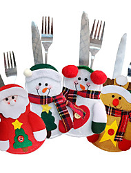 cheap -4PCS Holiday Tableware Sets Christmas Knife And Fork Bags
