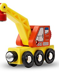 cheap -Stress Reliever Construction Vehicle Special Designed Hand-made Parent-Child Interaction Wooden 1 pcs Crane Elementary All Toy Gift