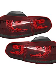 cheap -Pair Car Rear LED Red Flash Tail Brake Light For VW Golf 6 2008-2013