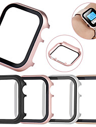 cheap -All-inclusive Tempered Glass Film Protective Case For Apple Watch 40mm/44mm/38mm/42mm Metal Shell Frame For Apple Watch Series 6 SE 5 4 3 2 1