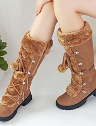 cheap -Women's Boots Flat Heel Round Toe Suede Mid-Calf Boots Fall & Winter Black / Brown / Purple