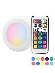 Недорогие -3x диммируемый сенсорный датчик беспроводной светодиодной шайбы ночные светильники RGB 12 цветов светодиодные под светом шкафа для тесного освещения прихожей лестница шкаф (3 лампы и 1 контроллер)