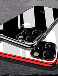 cheap -Case For Apple iPhone 11 / iPhone 11 Pro / iPhone 11 Pro Max Plating Back Cover Transparent TPU
