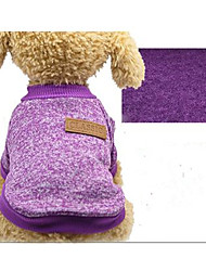 cheap -Dog Sweater Hoodie Winter Dog Clothes Brown Purple Costume XS S M L XL