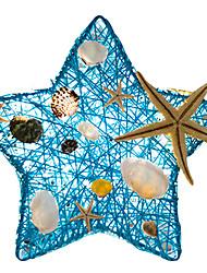 abordables -coquille de mer créatif étoile forme lampe de bureau en rotin usb led lampe maison chambre table nuit lumière romantique décoration table éclairage