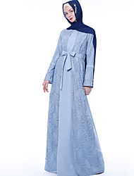 cheap -Arabian Adults' Women's Cosplay Casual / Daily Cosplay Costume Arabian Dress Hijab / Khimar For Party Halloween Lace Polyester / Linen Blend Halloween Carnival Masquerade Dress