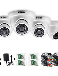 cheap -ZOSI 4pcs/lot 1080P HD-TVI 2.0MP CCTV Dome Camera Home Security System Waterproof for 1080P HD-TVI DVR Systems