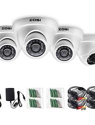 Недорогие -Zosi 4 шт. / лот 1080 P HD-TVI 2.0MP купольная камера видеонаблюдения домашняя система безопасности водонепроницаемый для 1080 P HD-DVR систем