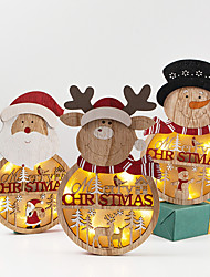 cheap -Christmas Ornaments Christmas / Holiday Wooden Party / Wooden Christmas Decoration