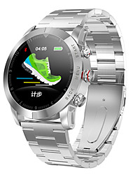 Недорогие -Для пары Смарт Часы Цифровой Стильные Нержавеющая сталь Натуральная кожа Пульсомер Bluetooth Smart Аналоговый На каждый день Мода - Черный Коричневый Черный / серый
