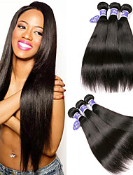 cheap -6 Bundles Indian Hair Straight Unprocessed Human Hair 100% Remy Hair Weave Bundles Headpiece Natural Color Hair Weaves / Hair Bulk Bundle Hair 8-28 inch Natural Natural Color Human Hair Weaves Easy
