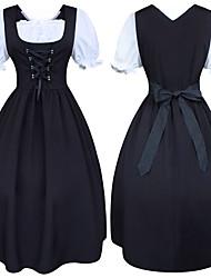 cheap -Cinderella Movie / TV Theme Costumes Vintage Renaissance Party Costume Masquerade Costume Women's Costume Black & White Vintage Cosplay Short Sleeve Medium Length A-Line Plus Size