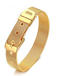 cheap -Men's Chain Bracelet Classic Vertical / Gold bar Stylish Titanium Steel Bracelet Jewelry Gold / Silver For Daily