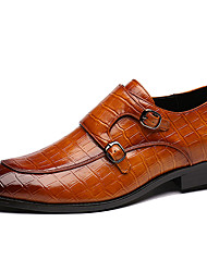 cheap -Men's Moccasin Synthetics Spring / Fall Casual / British Loafers & Slip-Ons Non-slipping Black / Light Brown / Dark Brown / Party & Evening / Party & Evening / Driving Shoes