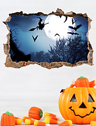 cheap -Decorative Wall Stickers - Plane Wall Stickers / Holiday Wall Stickers Halloween Decorations Bedroom / Dining Room