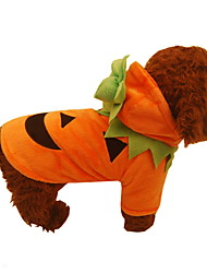 cheap -Dogs Outfits Winter Dog Clothes Orange Halloween Costume Polyster Pumpkin Holiday XS S M L XL