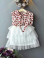 cheap -Kids Girls' Basic Leopard Sleeveless Clothing Set Red