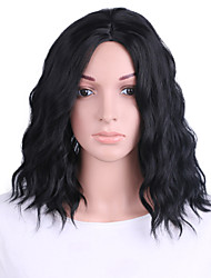 cheap -Synthetic Wig Water Wave Bob Wig Short Black#1B Green Synthetic Hair 14 inch Women's Odor Free Cosplay Adjustable Black Green / Heat Resistant / Heat Resistant / Doll Wig