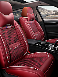 cheap -Car seat cushion leather linen 3D three-dimensional thickened seat cushion new luxury car seat cover