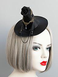 cheap -Women's Hat For Halloween Theme Party Cartoon Cord Imitation Pearl Fabric Black 1