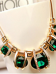 cheap -Women's Crystal Necklace Geometrical Weave Fashion Chrome Light Green 45+5 cm Necklace Jewelry 1pc For Holiday
