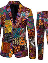 cheap -Men's Suits Shawl Lapel Cotton Orange