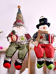 cheap -Christmas Sitting Santa Claus Decorations Snowman Snowman Dolls Christmas Ornaments