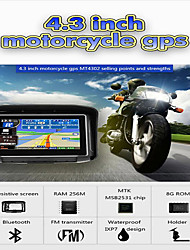 cheap -4.3 inch Waterproof IPX7 Motorcycle GPS Navigation MOTO Navigator With FM Bluetooth 8G Flash Prolech Car GPS Tracker WIN CE Support A2DP Earphone+Free Map