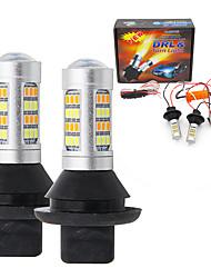 Недорогие -2pcs T20 (7440,7443) Автомобиль Лампы SMD 2835 Светодиодная лампа Фары дневного света / Лампа поворотного сигнала Назначение Toyota / Nissan / Mitsubishi Все года