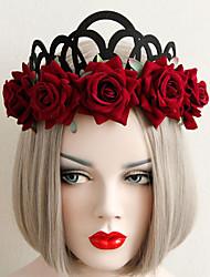 cheap -Women's Headbands For Party Halloween Club Bar Flower Series Braided Fabric Black 1