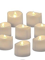 abordables -8pcs réaliste réaliste ampoule scintillante brillant à piles bougie sans flamme a mené la lumière de thé pour la célébration du festival saisonnier