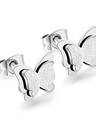 cheap -Women's Stud Earrings Geometrical Butterfly Stainless Steel Earrings Jewelry Gold / Silver / Rose For Daily 1 Pair