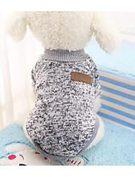 cheap -Cat Dog Sweater Winter Dog Clothes Gray Coffee Costume Cotton Color Block Fashion XS S M L XL