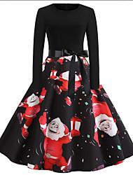 cheap -Women's Sheath Dress - Floral Black S M L XL