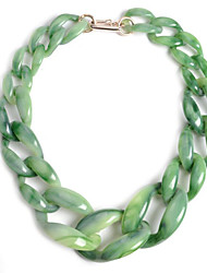 cheap -Women's Resin Necklace Geometrical Weave Fashion Acrylic Light Green Pink Brown Beige Gray 58 cm Necklace Jewelry 1pc For Daily Holiday