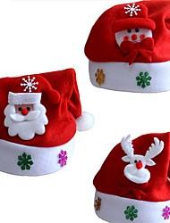 Недорогие -3 шт. Рождественские украшения украшения новогодние шапки санта шляпы дети женщины мужчины мальчики девочки кепка для рождественской вечеринки реквизит