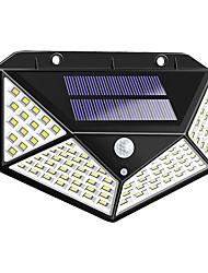 Недорогие -1шт 2 Вт наружные настенные светильники / светодиодный уличный светильник / настенный светильник на солнечной батарее водонепроницаемый / солнечный / инфракрасный датчик белый 3.7 В наружное освещение